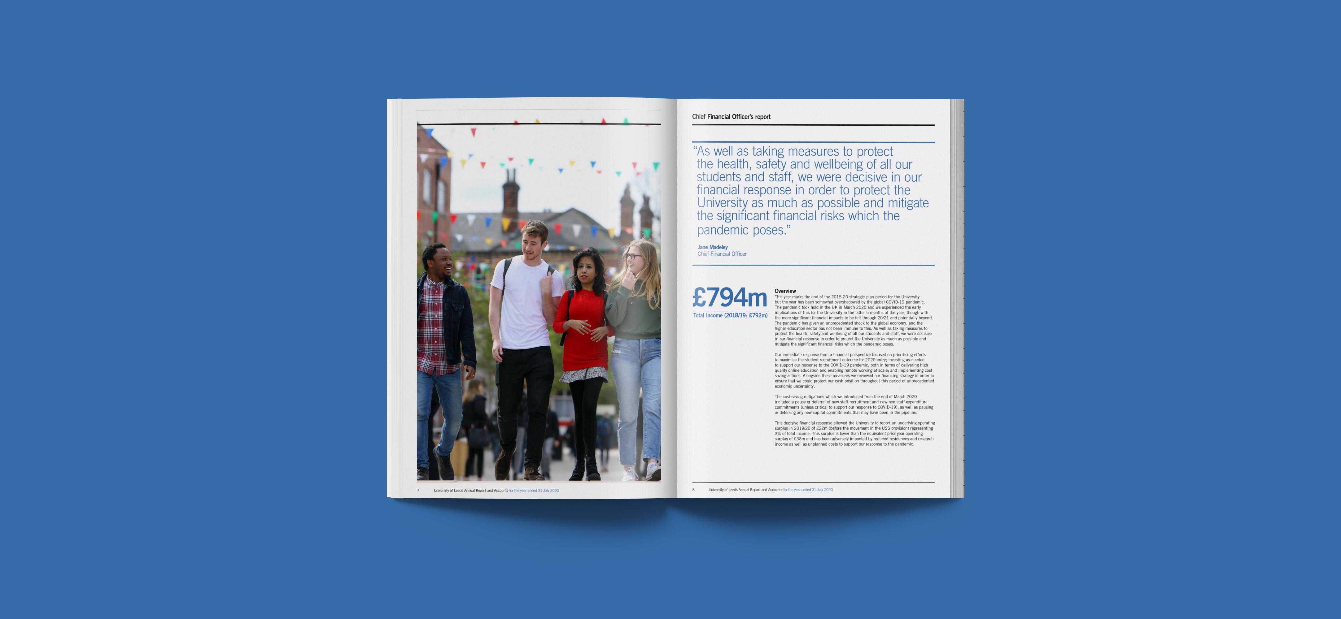 University of Leeds Annual Report Mockup 1
